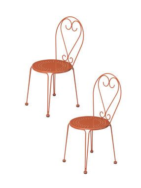 Bistro Chairs, Set Of 2, Factory Second