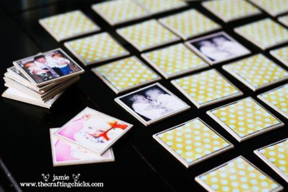 {Photo Memory Game} use your own family photos