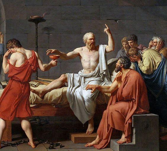La muerte de Sócrates.Jacques Louis David. Neoclásico