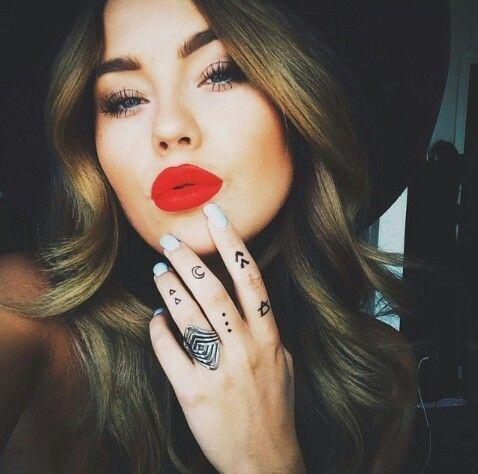 Love her red lipstick