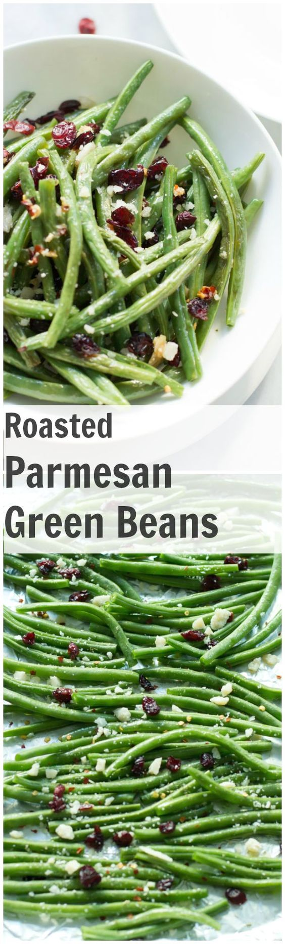 Super crispy Roasted Parmesan Green Beans, topped with dried ...