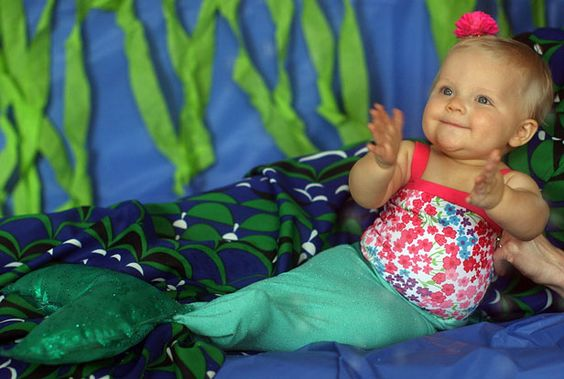 An Easy-to-Make Baby Mermaid Costume >> http://blog.diynetwork.com/maderemade/how-to/how-to-make-a-baby-mermaid-costume?soc=pinterest