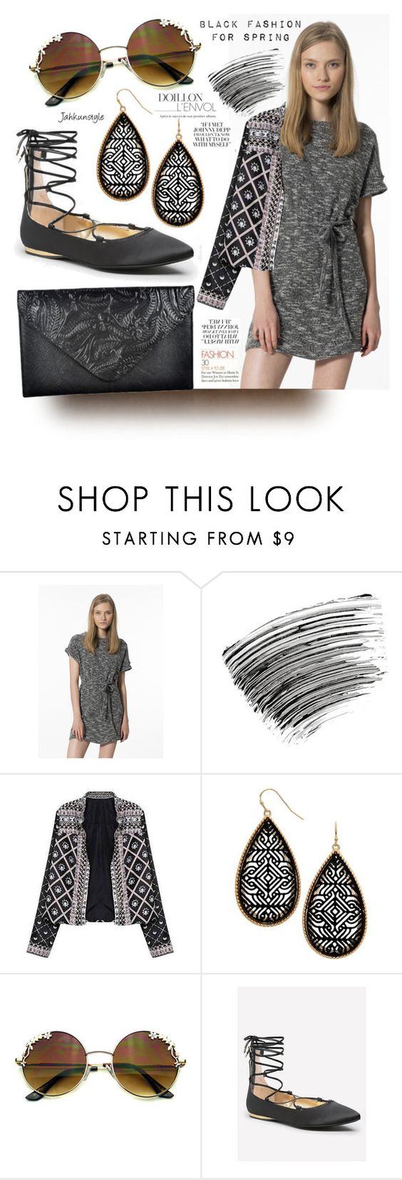 """""""Black Fashion"""" by jahkun ❤ liked on Polyvore featuring Bobbi Brown Cosmetics, Bebe and SpringStyle"""