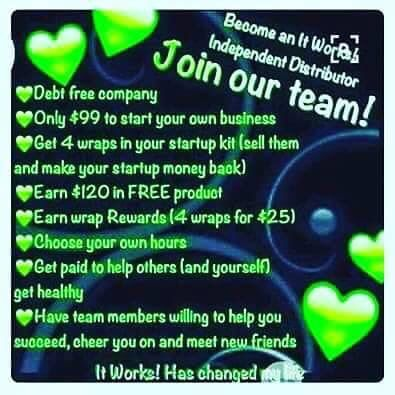 Join the party! Join my team. $500 sign on bonus http://www.nicolewrapexpert.itworks.com