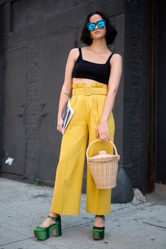 On the street at New York Fashion Week: Men's. Photo: Imaxtree