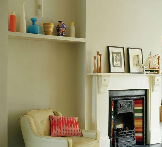 shelf w/pottery