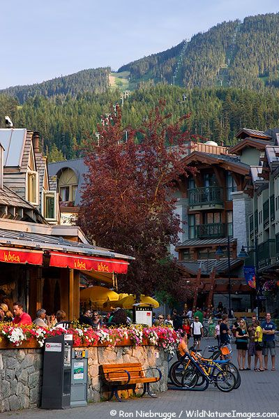 Whistler Village has many great restaurants and shops, Whistler, British Columbia, Canada