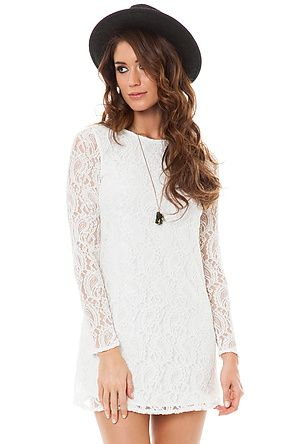 Glamorous Dress Adore Me Lace in White: Miss KL