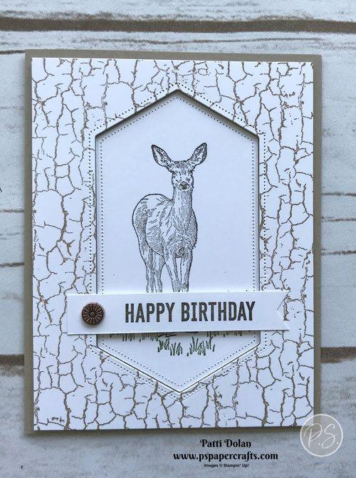 Nature S Beauty Deer Birthday Card Jpg Masculine Birthday Cards Birthday Cards Crackle Painting