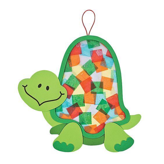 Colorful Turtle Tissue Paper Craft Kit - we did this at our summer kids program -- they proved better crafts for the older kids!