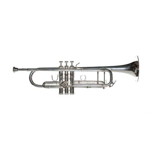 Silver Plated trumpet with case & Bonus Types Of Trumpets