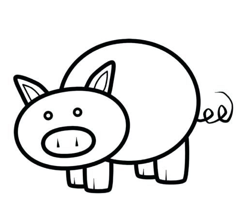 Pig Template Printable Pig Coloring Pages Pig Printable Pig Coloring Pig Pictures Pig Crafts Pumpkin Carving Templates
