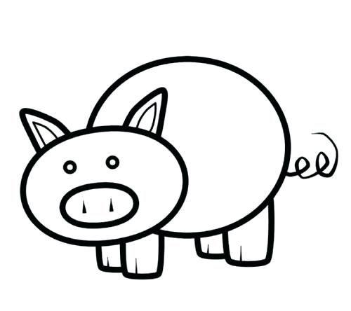Pig Template Printable Pig Coloring Pages Pig Printable Pig
