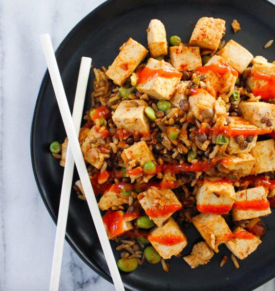 Easy Sheet Pan Fried Rice and Tofu [Vegan, Gluten-Free]