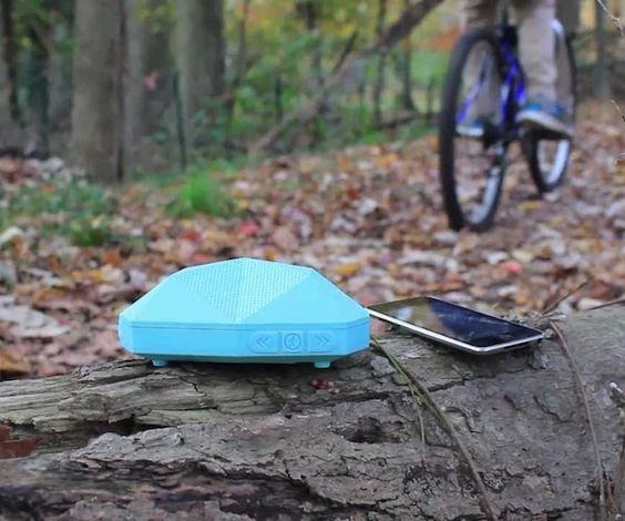 Enjoy the great outdoors even more with the Outdoor Tech Turtle Shell 2.0 Bluetooth Speaker.