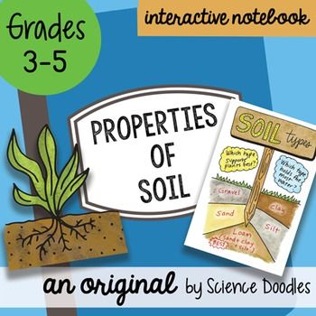 Properties of soil science doodles interactive notebook for Soil 5th grade