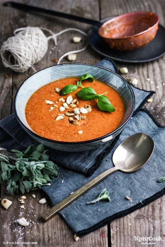 Paprika suppe paprikasuppe healthy lena vegan fettarm kptn cook
