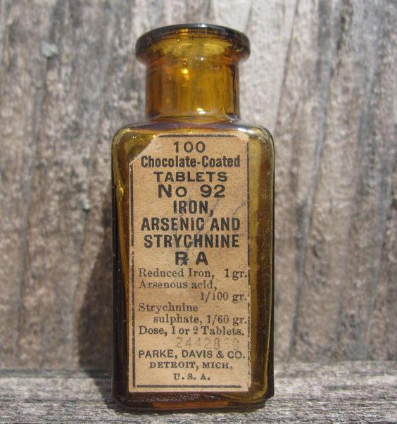 details about old amber poison medicine bottle w original