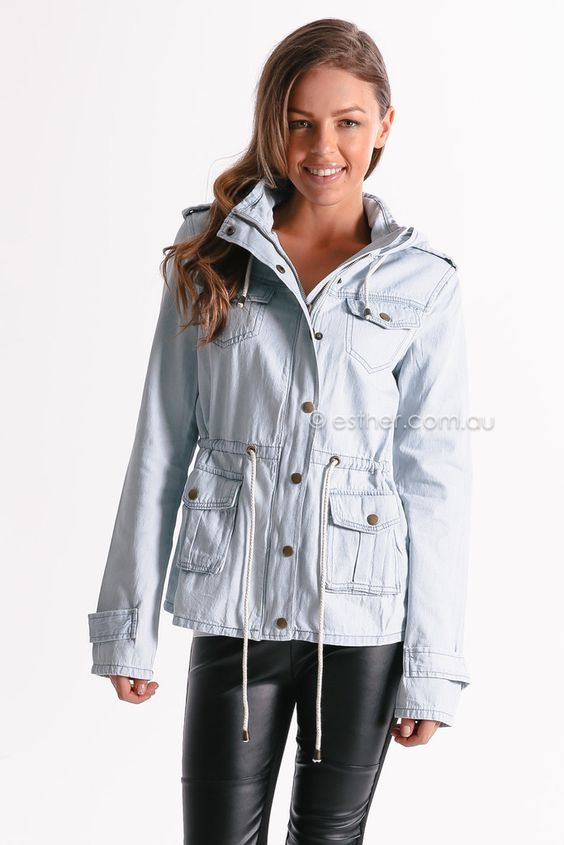 Living Doll Army Major Jacket (Denim)