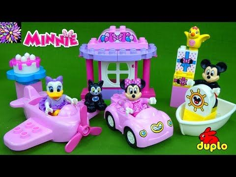 Minnie Mouse Birthday Party Duplo Play Set Mickey Mouse Boat Plane Car Daisy Duck Girls Toys V Minnie Mouse Birthday Minnie Mouse Birthday Party Toys For Girls