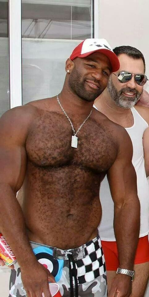 Hairy Muscle Black Men