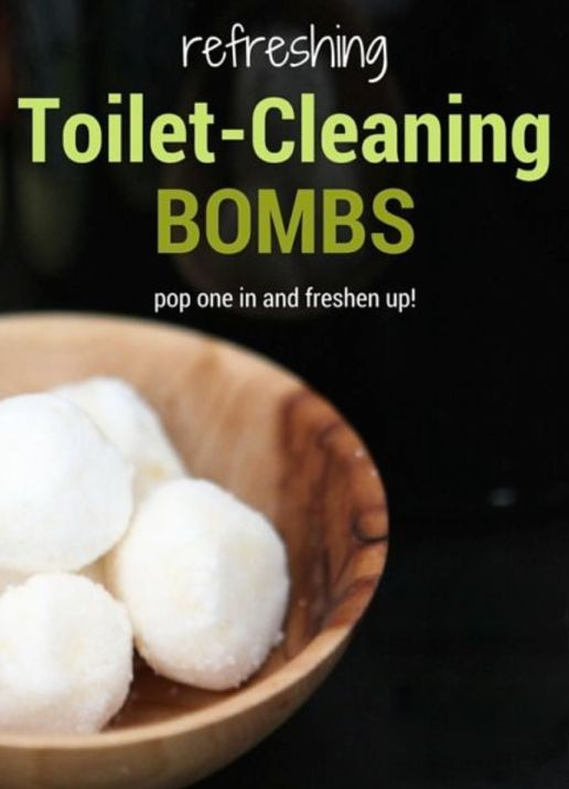 Cleaning household cleaning products and toilet on pinterest - Diy toilet cleaning bombs ...