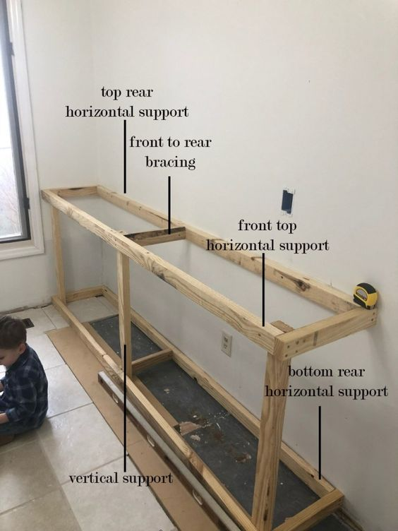 frame voor het maken van een radiator ombouw