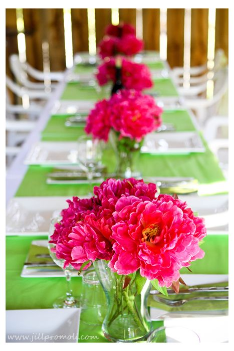 Pink and green  wedding @DannyMandi Luebbers @Misty Luebbers