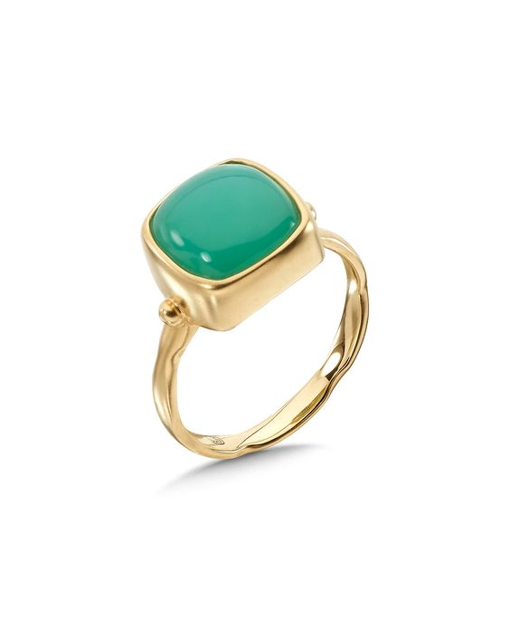 """Spotted this Whitney Stern """"Glam"""" 14K 5.50 ct. tw. Chrysoprase Ring on Rue La La. Shop (quickly!)."""