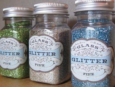 Glitter fanatic labels.