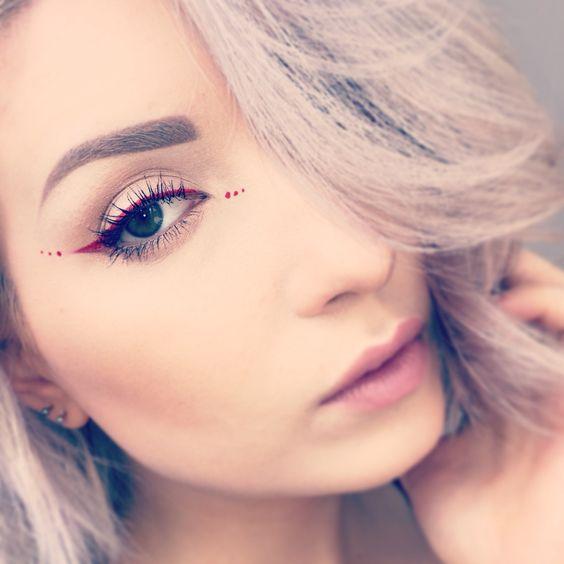 Red eyeliner dots                                                                                                                                                     More