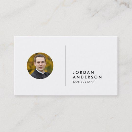 Add Your Photo Simple Separator Editable Color Business Card Zazzle Com Business Cards Business Card Design