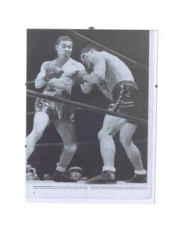 "Foto ""Boxsport"" mit Rahmen 40x30 cm"