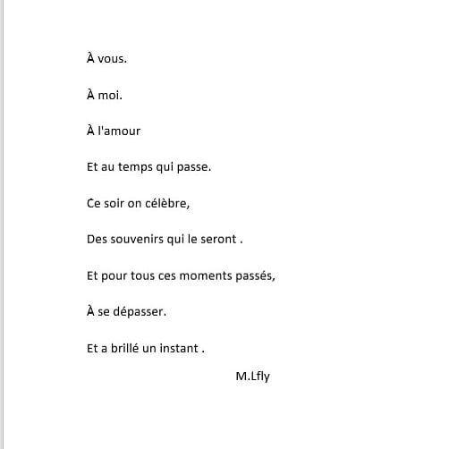 Vous à Moi à Lamour Et Au Temps Qui Passe Poesie