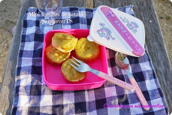 Mini tortillas de patata al horno #parallevarTS | Cocinando para mis cachorritos