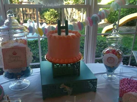 Beautiful birthday cake for a beautiful little girl. The cake topper is the first name initial :)))