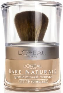 L'Oreal Bare Naturale mineral makeup - This is the BEST makeup I've ever used! Bare Minerals is great, but pricey. This is just as great, if not better, and for half the price!