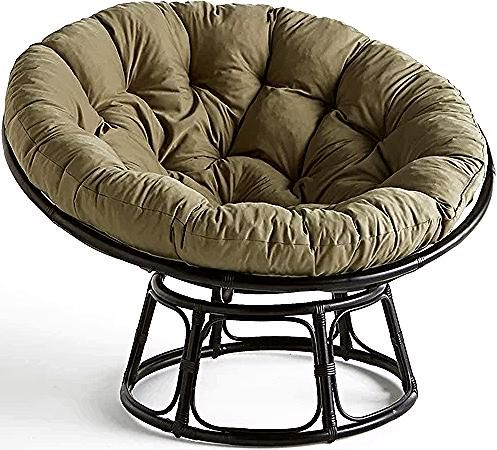 Fauteuil Papasan Rotin Aranias Kaki Noir Am Pm La Redoute In 2020 Saucer Chairs Furniture Chair