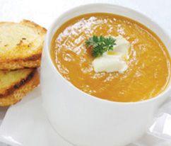 Pronto Pumpkin Soup: I use home cooked pumpkin rather than store-bought canned.