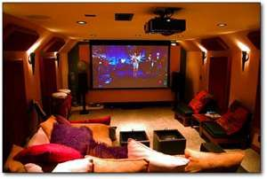 Sweet home theater room