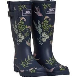 Mid-Calf Thick-Sole Warm Winnter Waterproof Women Barn Boots WTW Womens Floral Wide-Calf Neoprene Insulated Rubber Rain Snow Boots for Ladies