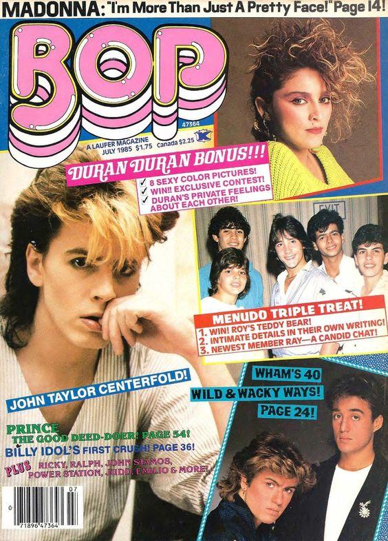 Bop Teen Magazine Madonna Billy Idol Duran Duran Menudo Prince Rick Schroder WOW | eBay