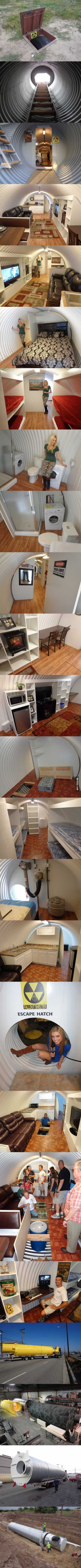 A fall-out shelter that is better than people's houses #bunkerplans