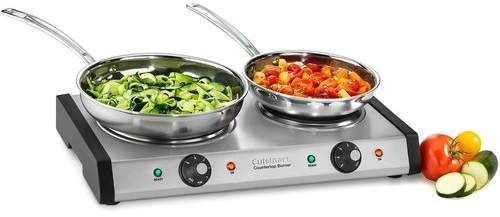 Cuisinart Double Cast Iron Burner For Countertop Use Dormroom