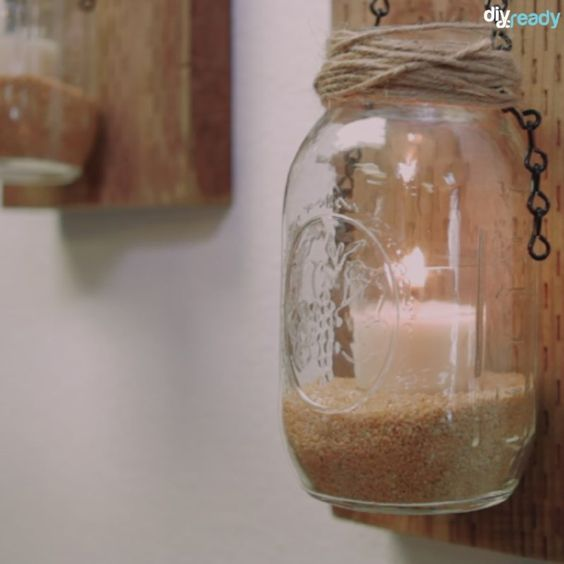 Make Your Own Rustic Candle Sconces