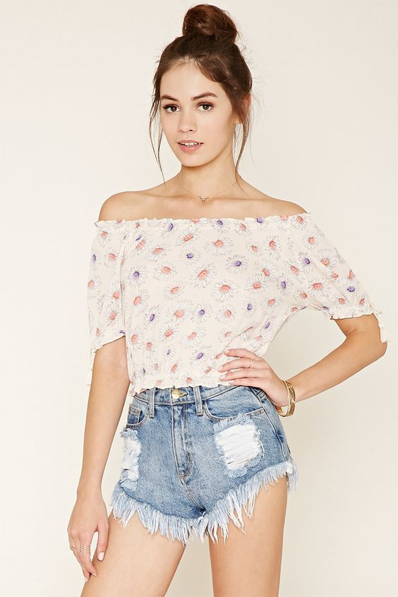 Daisy Print Top - New Arrivals Clothing - 2000176124 - Forever 21 EU English: