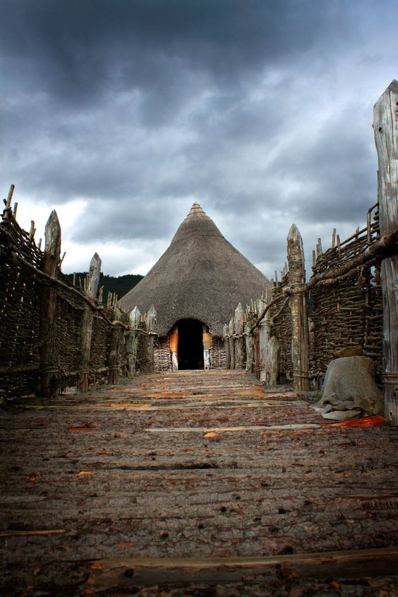 CRANNOG, ancient dwellings built over the water in Scotland. This one is on Loch Tay.