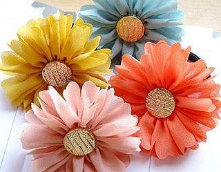 Resultado de imagem para artesanato flores de tecido passo a passo