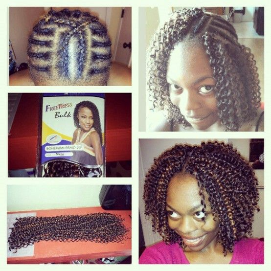Crochet Braids Middle Part : love the crochet braid pattern love it crochet braids love winter the ...