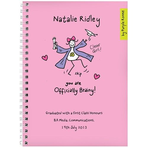 Personalised Purple Ronnie Graduation Female Notebook  from Personalised Gifts Shop - ONLY £7.99
